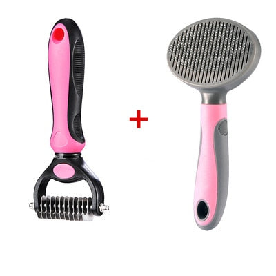 Pet Hair Removal Brush Comb Grooming Gadget Hair Shedding Trimmer Comb
