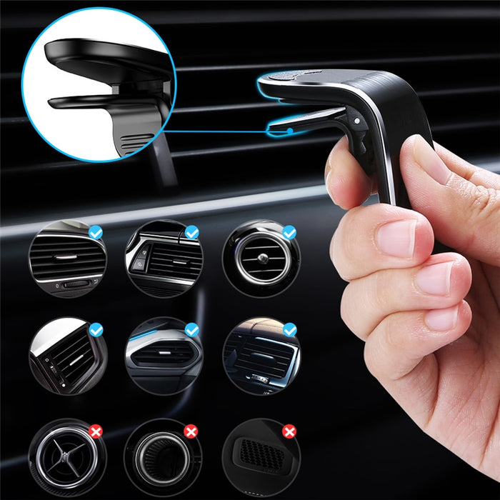 360 Metal Magnetic Car Phone Holder Stand - Gadget World