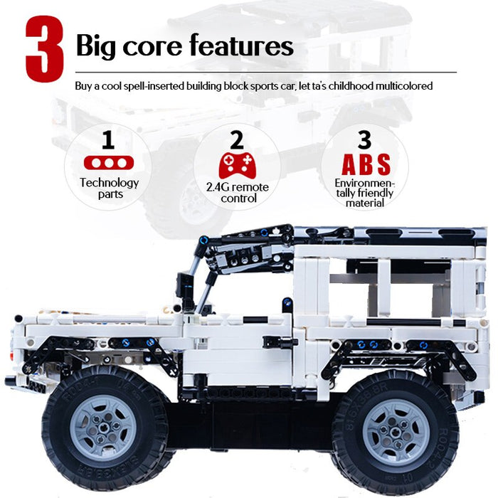 Cada 533Pcs Defender Remote Control Car Building Blocks - Gadget World