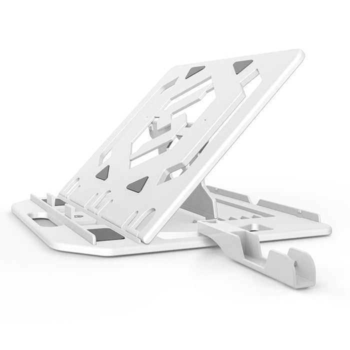 Height Adjustment Laptop Stand 360 Rotating with Phone Stand - Gadget World