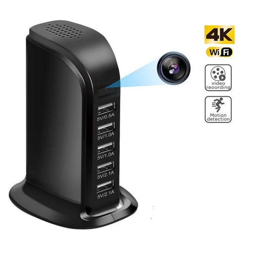 4K Wireless Hidden Camera in USB Wall Charger Baby Monitor - Gadget World