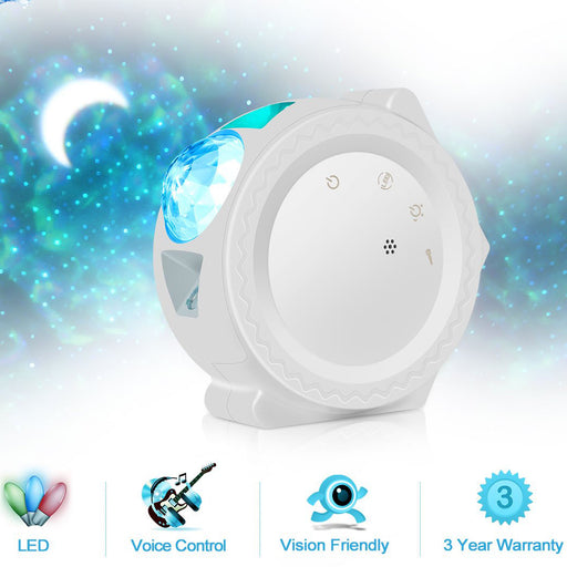 Starry Sky Projector LED Nebula Night Light 6 Colors Ocean Light - Gadget World