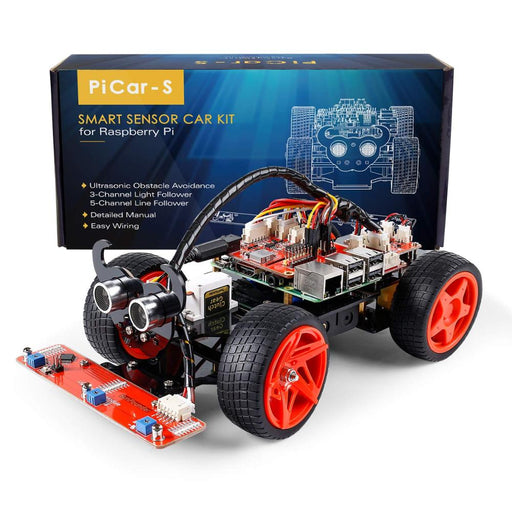 Raspberry Pi Smart Robot Car Kit Programmable Toy with Detailed Manual - Gadget World
