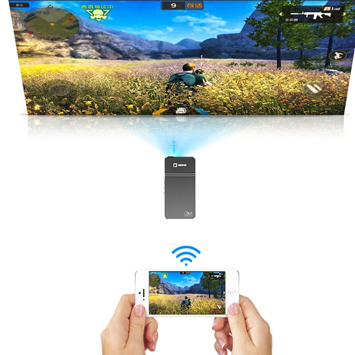 Portable Mini Projector WiFi Sync Display 50Ansi Lumen - Gadget World