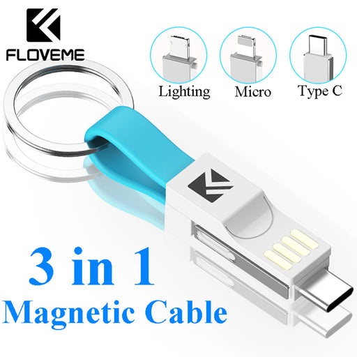 3-In-1 Keychain Charging Cable