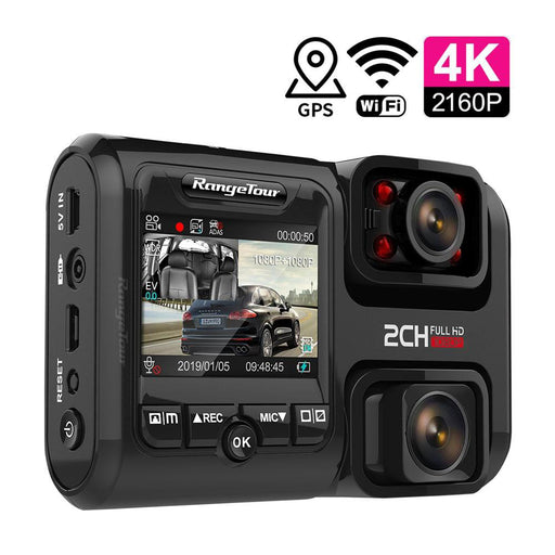 4K WiFi GPS Logger Dual Lens Night Vision Dash Cam - Gadget World