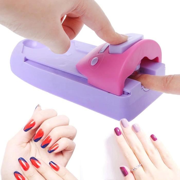 Nail Art Stamp Printing Manicure Set with 6 Metal Pattern Plates Scraper - Gadget World