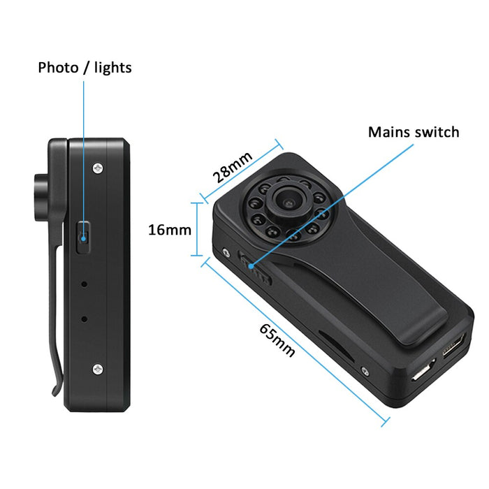 HD 1080P Mini IP Camera Mini Camcorder Kit - Gadget World