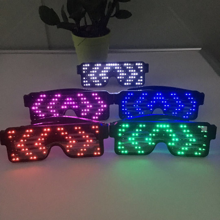 Flashing Neon Glowing Glasses Multicolor LED - Gadget World