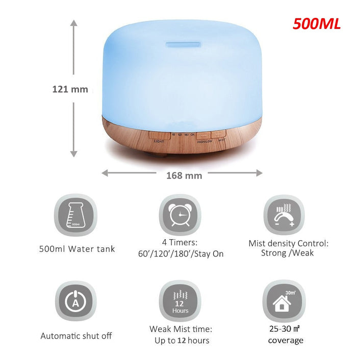 Air Humidifier Essential Oil Diffuser - Gadget World