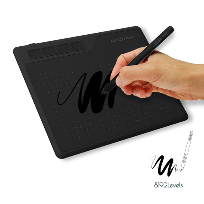 Graphic Tablet 8192 Level Battery-free Pen Support - Gadget World