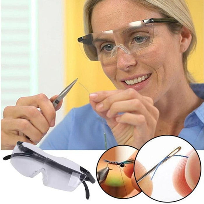 250 Degree Vision Glasses Magnifier Magnifying Eyewear - Gadget World