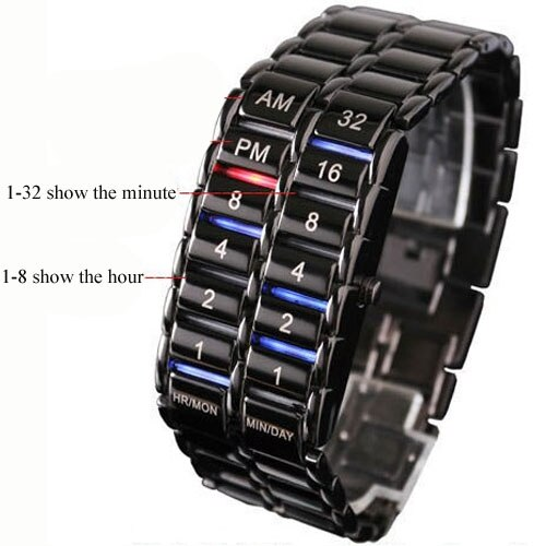 Iron Faceless Binary LED Wrist Watch - Gadget World