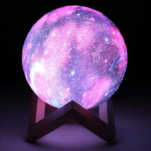 16 Colors 3D Moon Lamp With Remote Control - Gadget World