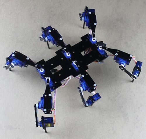 18 DOF Spider Robot Six Feet/Leg Hexapod 4 RC Mini Robotic Frame Chassis - Gadget World