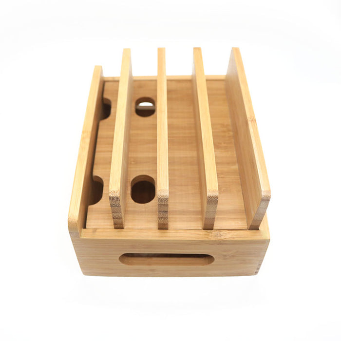 Bamboo Charging Station Cable Organizer - Gadget World