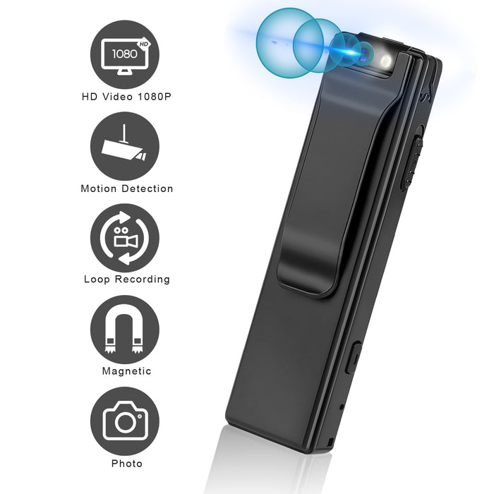 Mini Digital Camera HD Flashlight Micro Cam Magnetic Body Camera Motion Detection