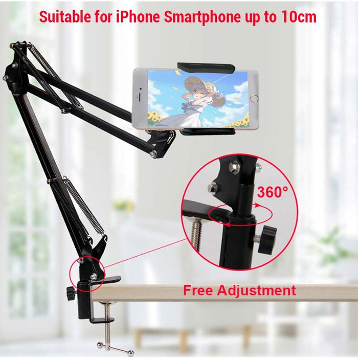360 Rotating Flexible Long Arms Phone Holder - Gadget World