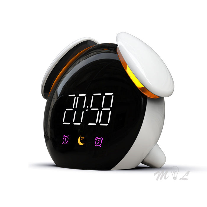 Touch Sensor Led Clock Colorful Night Light Chargeable Alarm - Gadget World