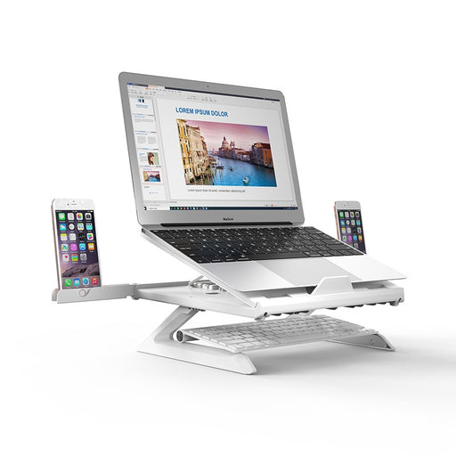 9 Angles Adjustable Desktop Stand Lapdesk Smartphone/Notebook Riser Holder - Gadget World
