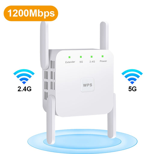 2.4G/5Ghz Wi-Fi Amplifier 300/1200 M Signal WiFi Long Range Extender 802.11ac Access Point - Gadget World