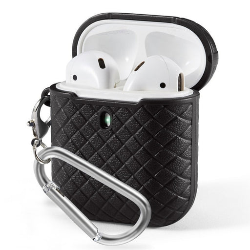 Textured Shockproof Woven Soft AirPods Case with Keychain - Gadget World