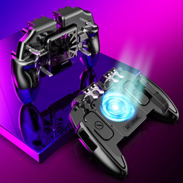 PUBG Mobile Joystick Controller Turnover Button Gamepad With Cooling Fan - Gadget World