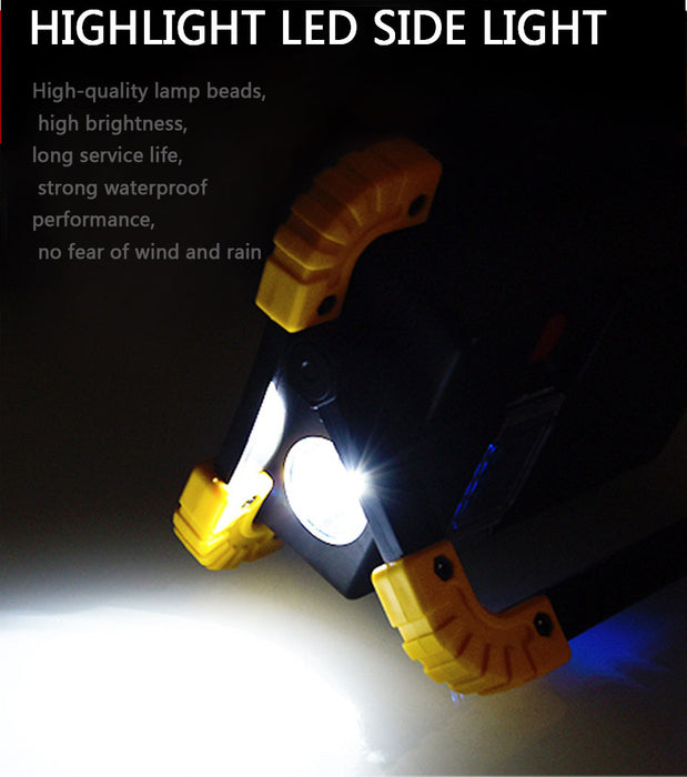 Portable Spotlight LED Work Light With Rechargeable 18650 Battery - Gadget World