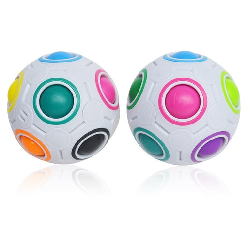 Rainbow Magic Ball Plastic Cube Twist Puzzle Toys - Gadget World