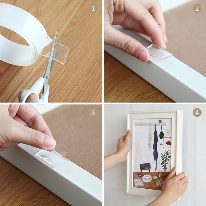 Double Sided Transparent Reusable Nano Magic Tape - Gadget World