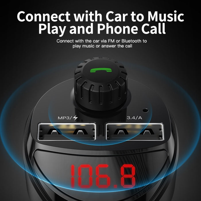 Car Charger with FM Transmitter Bluetooth Receiver Audio MP3 Player - Gadget World