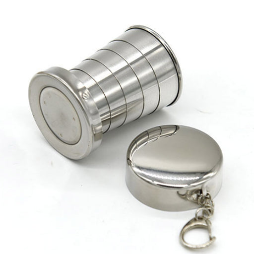Stainless Steel Folding Cup Travel Kit - Gadget World