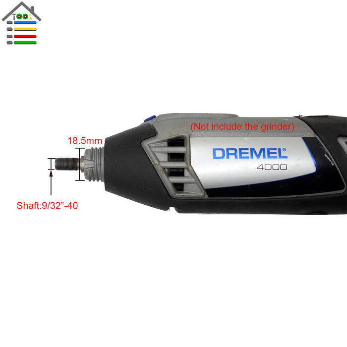 "Multi Keyless Chuck 9/32""-40 for Original Dremel 4000 3000 Rotary Tools - Gadget World"