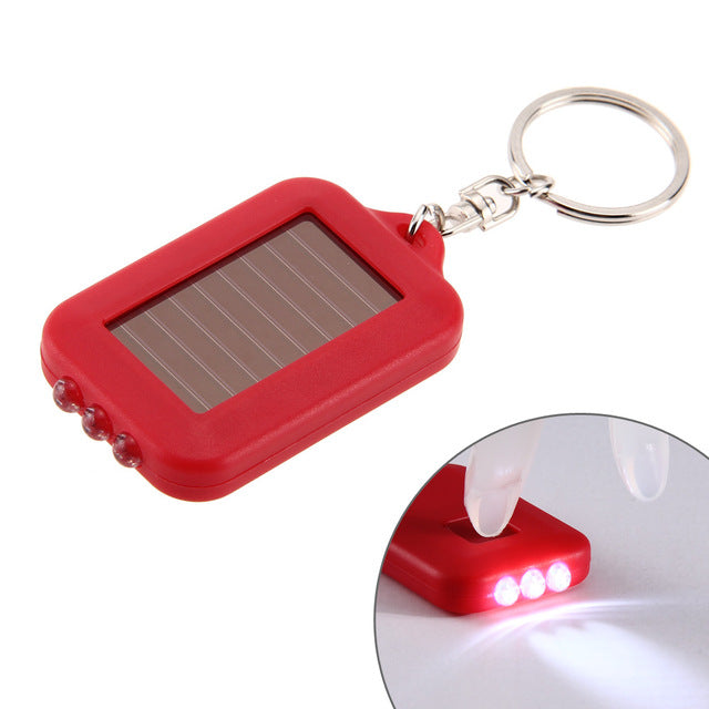 Solar Energy Light 3 LED Electric Torch With Key Chain - Gadget World
