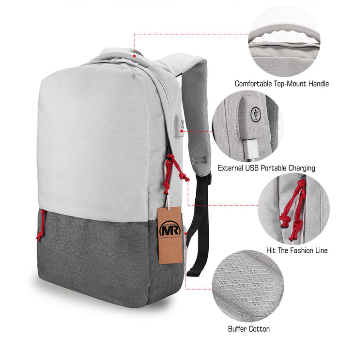 MARKROYAL Waterproof Laptop Backpack With External USB Charging - Gadget World