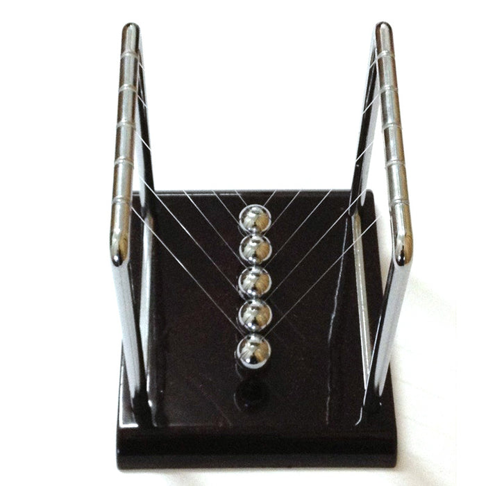 Newtons Cradle Steel Balance Ball Physics Pendulum P0.21 - Gadget World