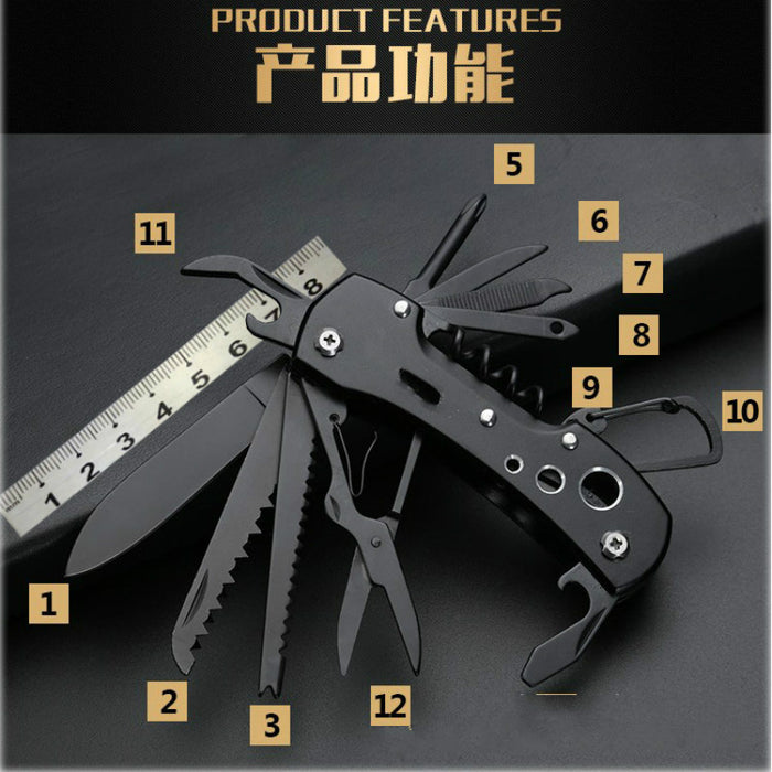 12-In-1 Pocket Folding Outdoor Survival Camping Fishing Huntsman Knives