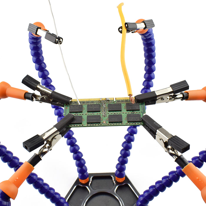 Multi Soldering Helping Hands with 6pcs Flexible Arms - Gadget World