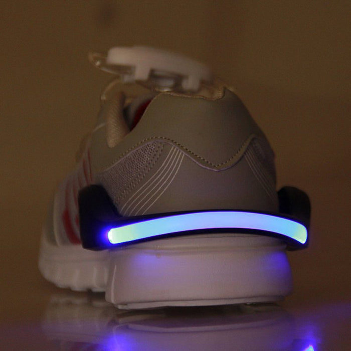 Outdoor Bicycle Bike LED Luminous Safety Night Running Shoe Clips
