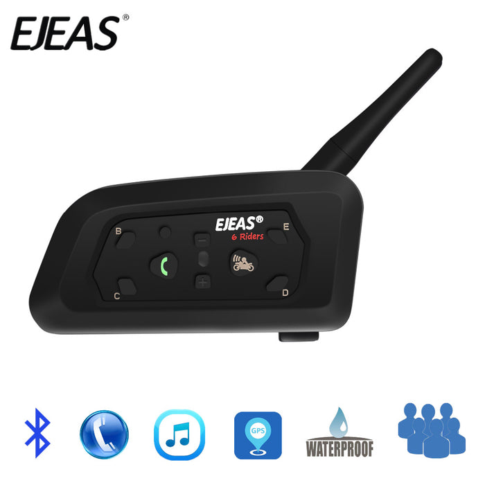 EJEAS V6 PRO Bluetooth Motorcycle Communicator - Gadget World