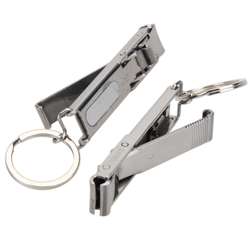 EDC Keychain Tool Foldable Stainless Hand Toe Nail Clippers Cutter