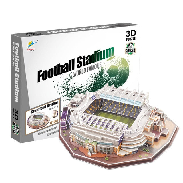 Famous Football Stadium Models DIY Toys