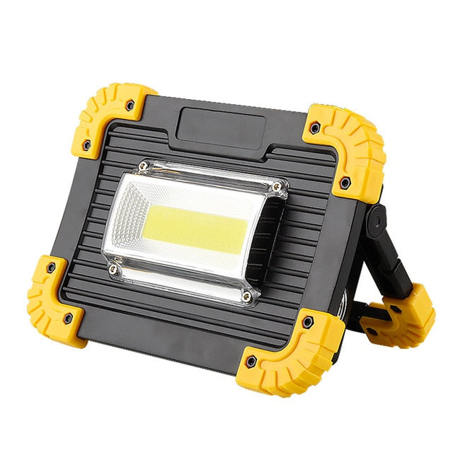 Portable Spotlight LED Work Light With Rechargeable 18650 Battery