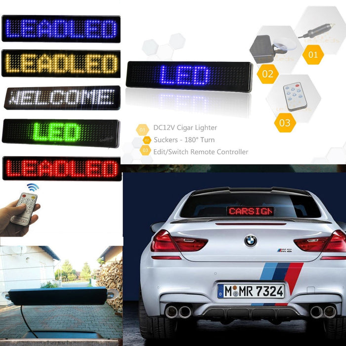 Car Sign Remote Control Display Board Scrolling Programmable Message - Gadget World