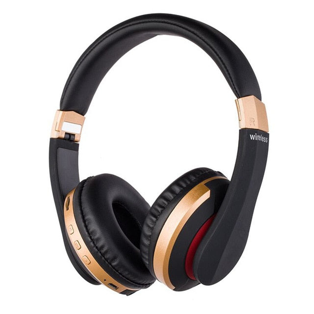 Bluetooth 5.0 Foldable Headphones With Mic and TF Card Support - Gadget World