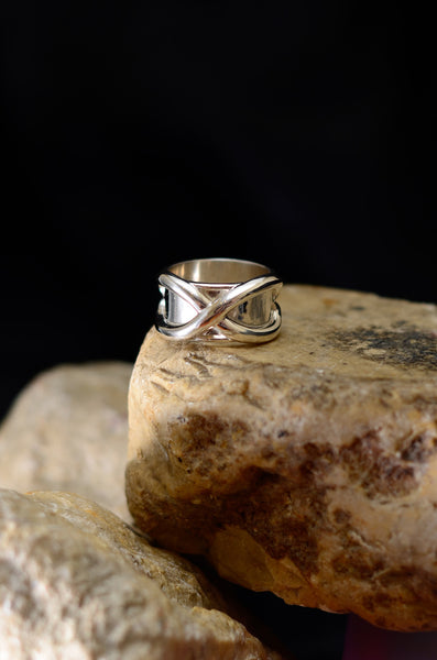 HachiCorp Anime Silver Jewelry Tagged Silver ring