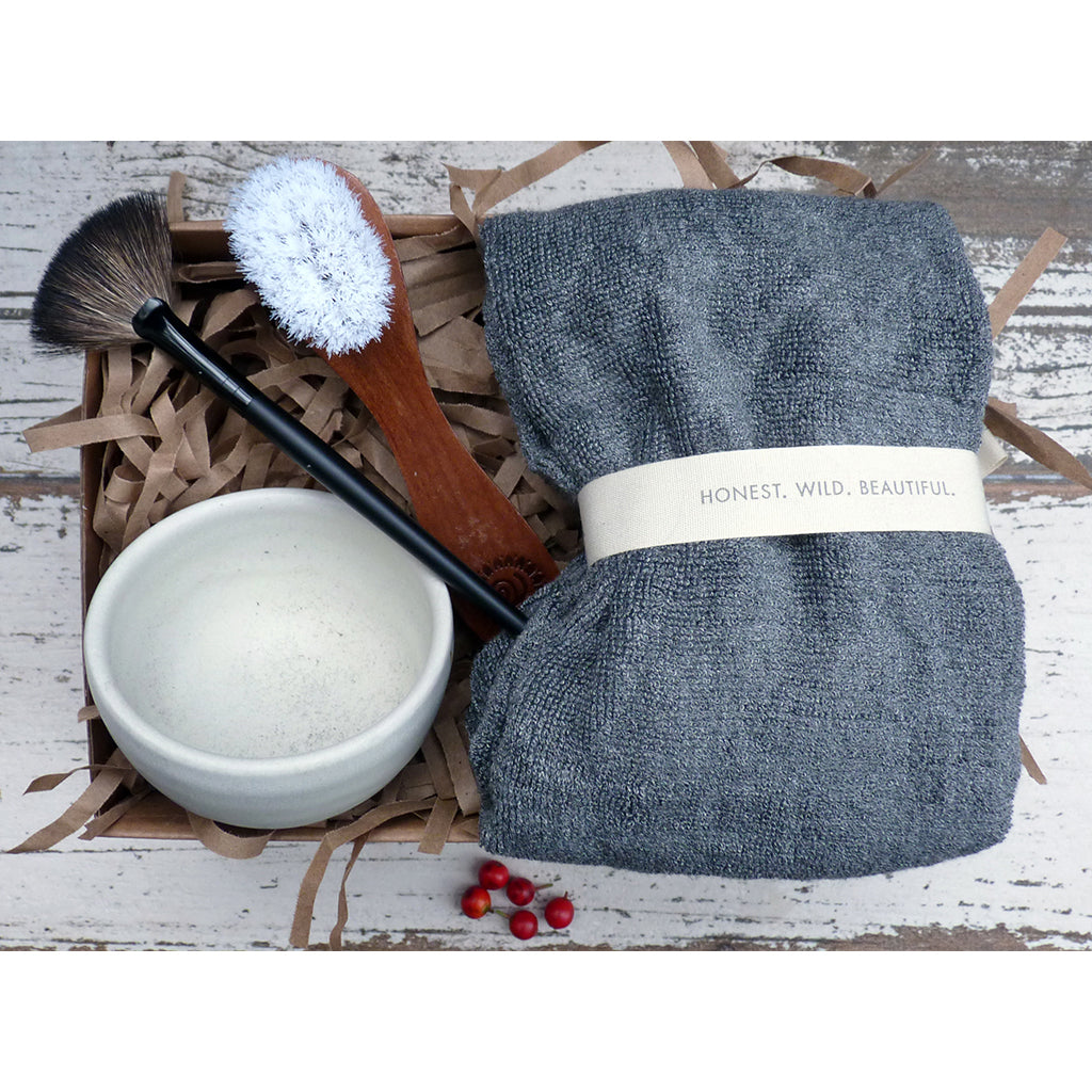 Bowl, Brushes & Washcloth Gift Set  by Annmarie Gianni