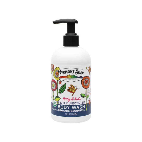 Baby & Kids Simply Unscented Body Wash 12oz / 355ml