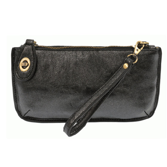 Lux Cross Body Wristlet Clutch - Black