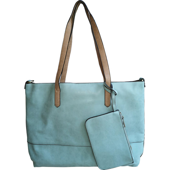 Brushed 2 in 1 Tote - Sky